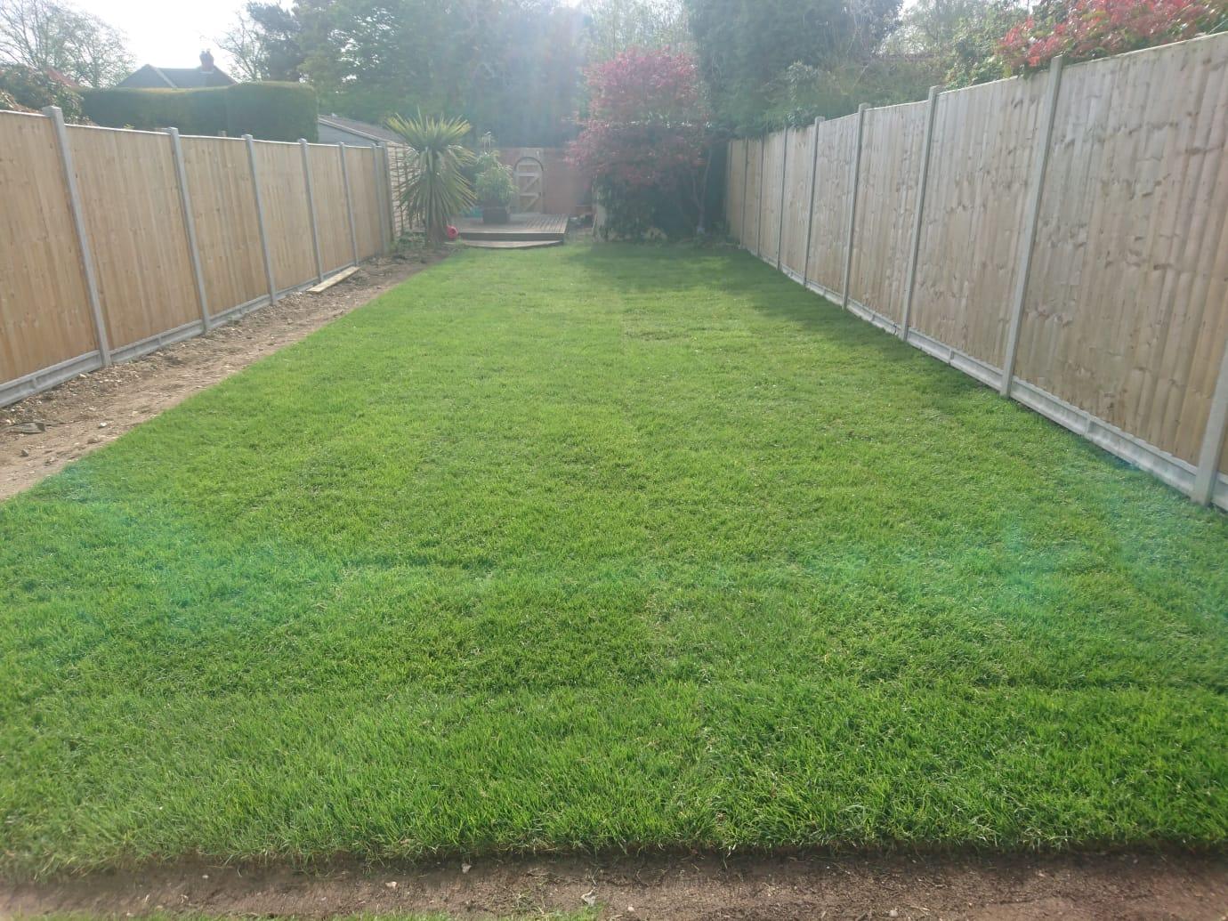 Returfing Garden Lawn West Wickham
