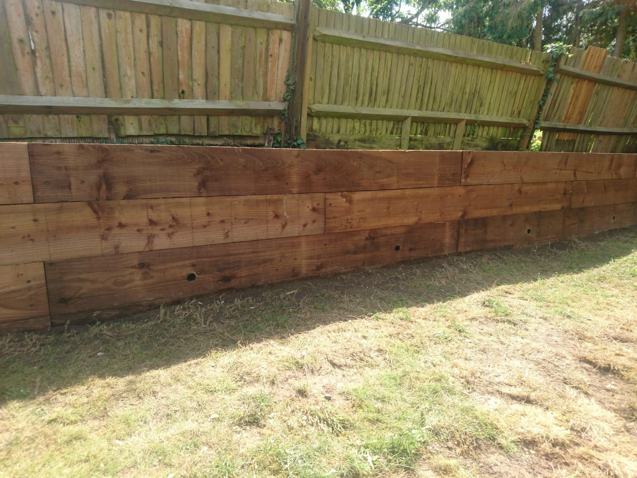Rear Garden Retaining Wall